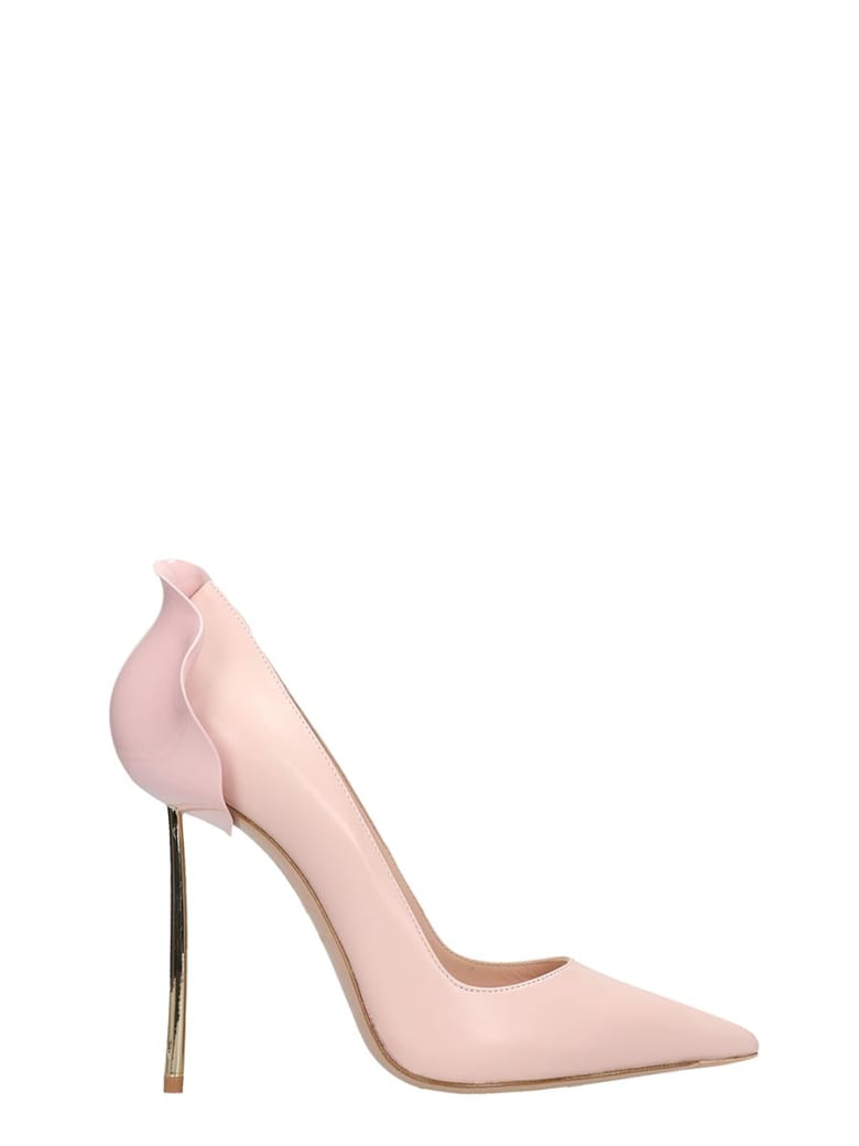 Le Silla Pumps In Rose-pink Leather - rose-pink