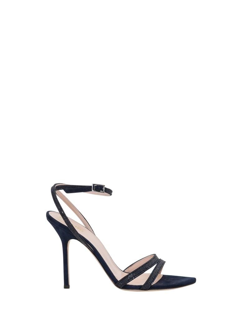 Pollini Sandals With Rihnestones - Blu