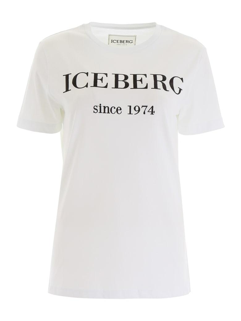 Iceberg T-shirt With Logo Embroidery - BIANCO OTTICO (White)