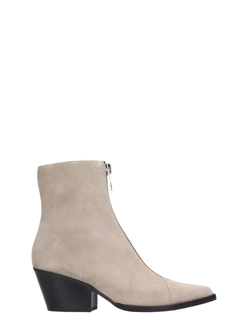 Jeffrey Campbell Landyn Low Heels Ankle Boots In Taupe Suede - taupe