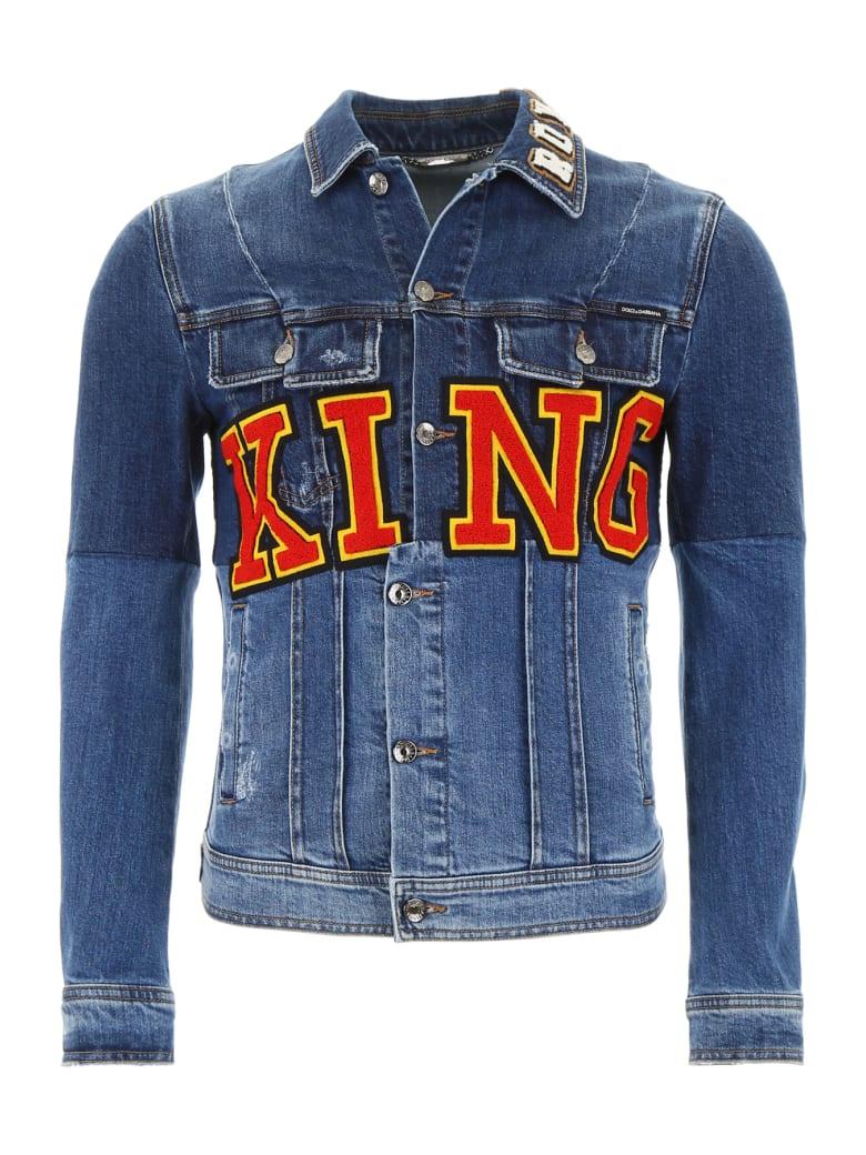 Dolce & Gabbana King Denim Jacket - VARIANTE ABBINATA (Blue)