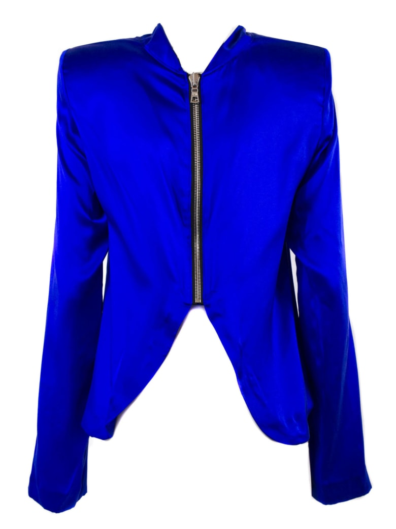RTA Cobalt Blue Silk Blouse - Cobalto