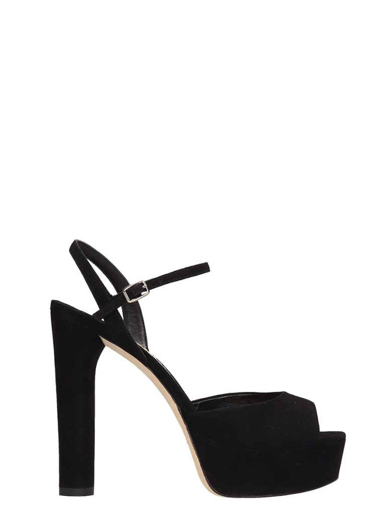The Seller Black Suede Sandals - black