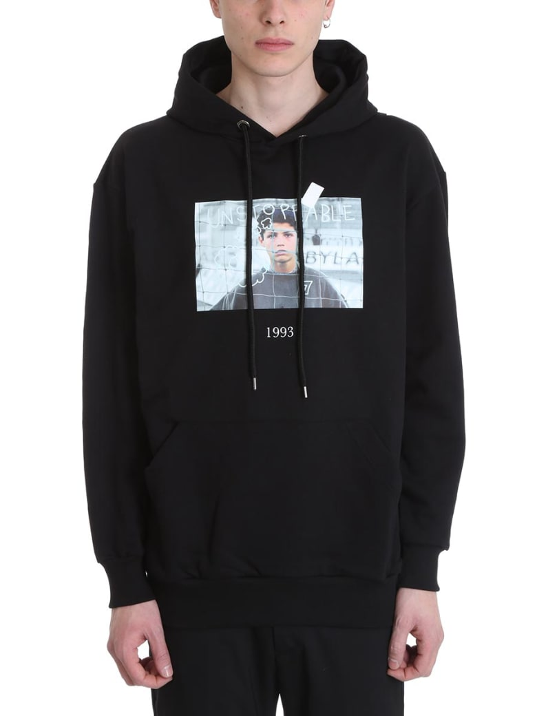 Throwback Cristiano Black Cotton Hoodie - black