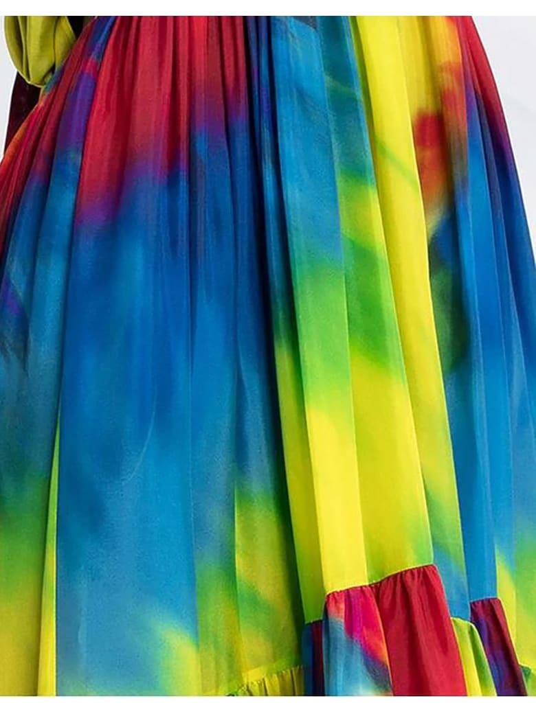 Alexandre Vauthier Tie-dye High-low Babydoll Dress - Multicolor