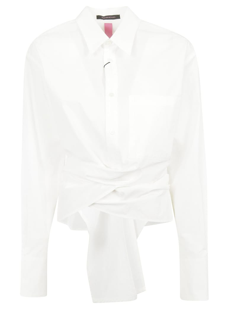 Y's Tied Front Shirt - White