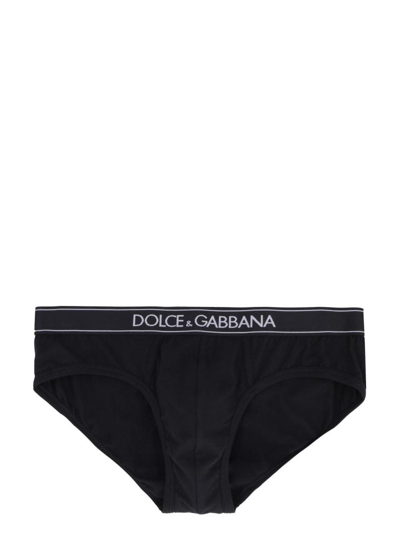Dolce & Gabbana Stretch Cotton Briefs - black
