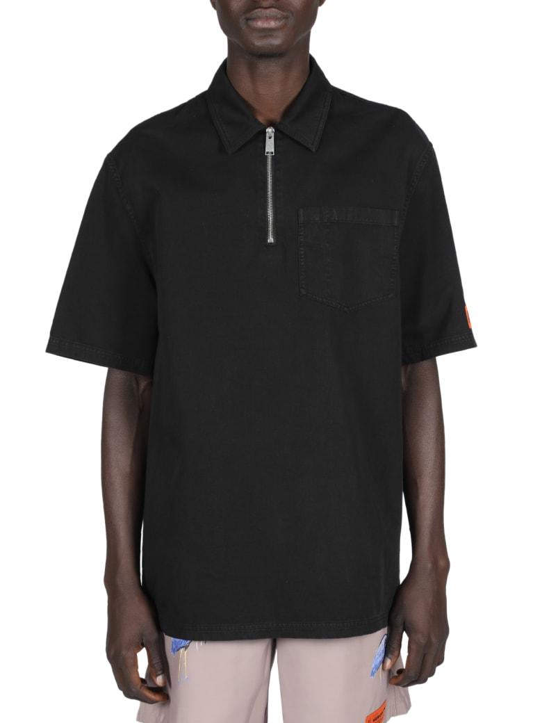 HERON PRESTON Heron Spray Half Zip Shirt - Nero/bianco