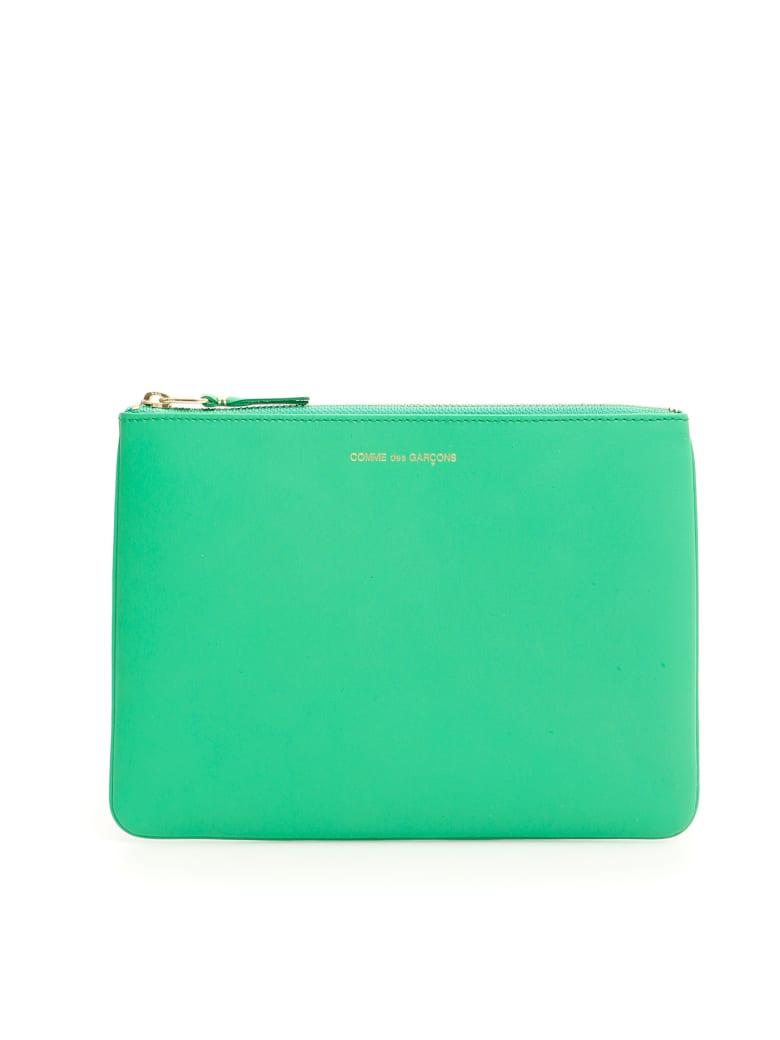 Comme des Garçons Wallet Unisex Classic Pouch - GREEN (Green)