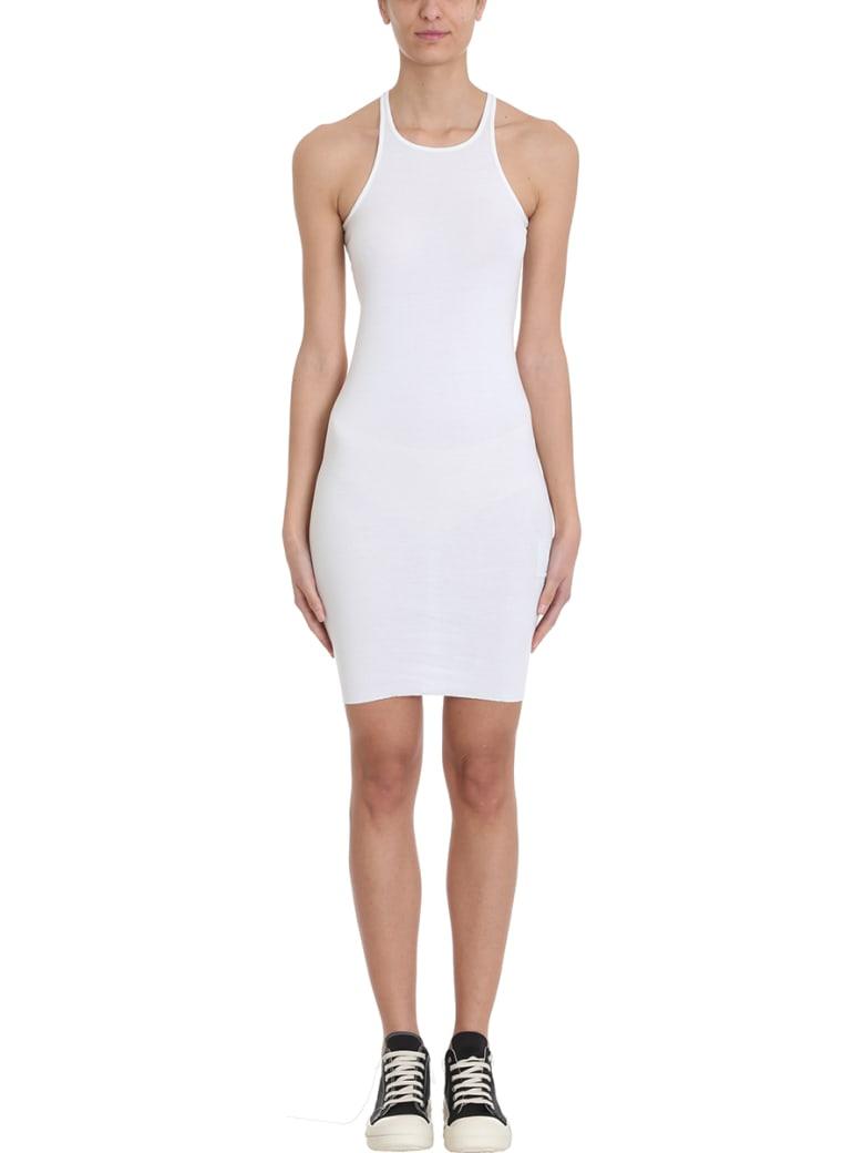 DRKSHDW Rib Tank Milk Tunic Dress - white