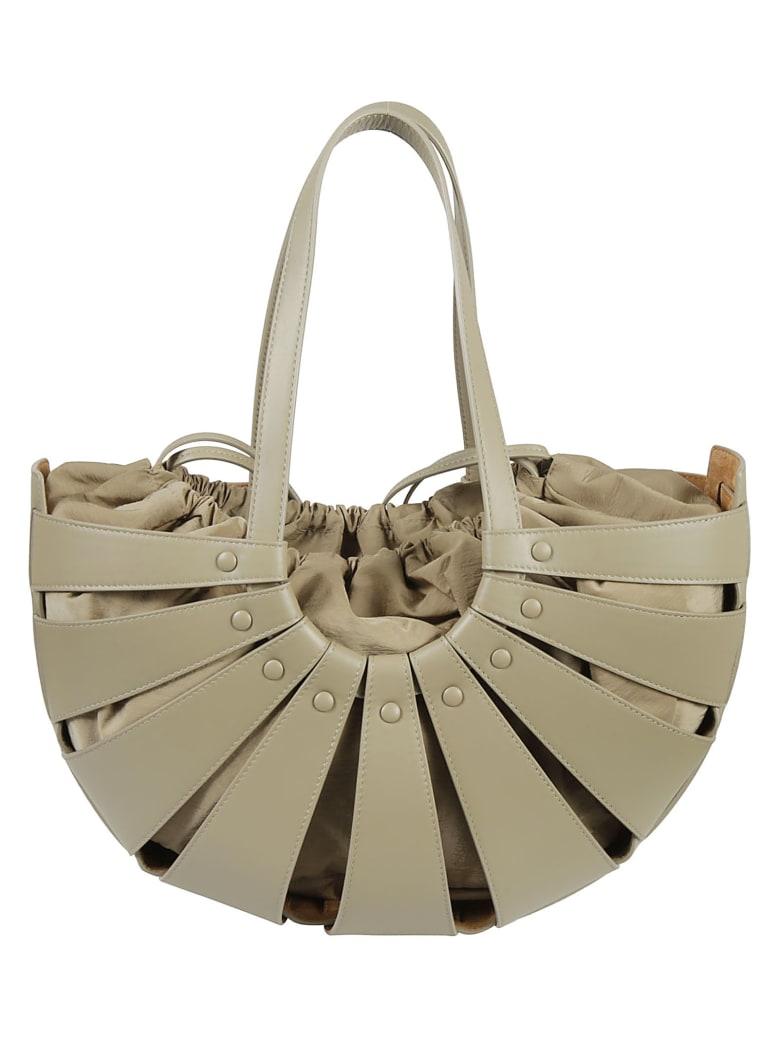 Bottega Veneta The Shell Shoulder Bag - Taupe/Gold
