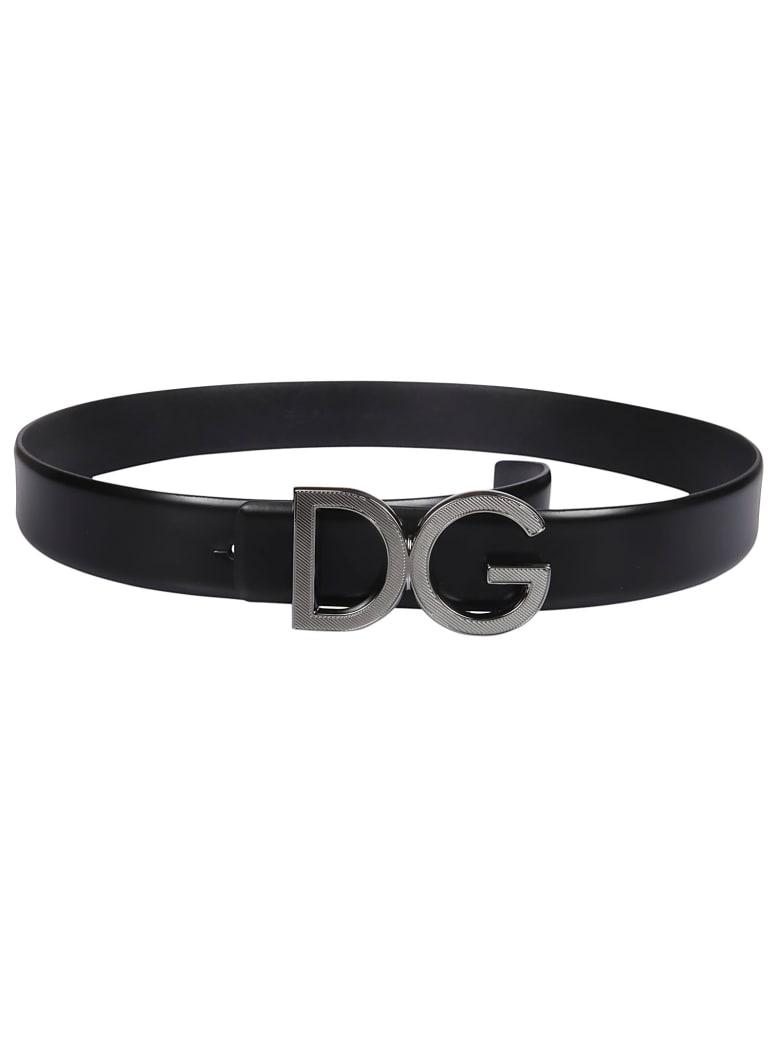 Dolce & Gabbana Dg Buckled Belt - Nero