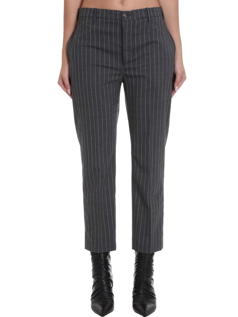 Mauro Grifoni Pants In Grey Wool - grey