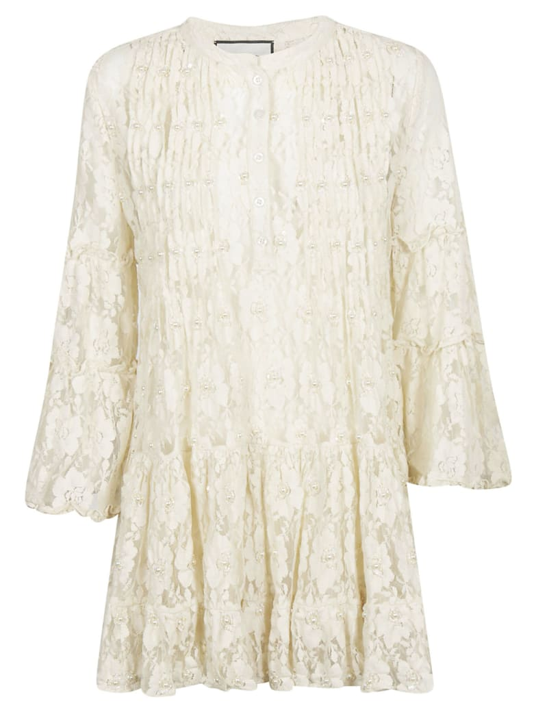 Alexis Beaded Lace Dress - Beaded Ivory Lace