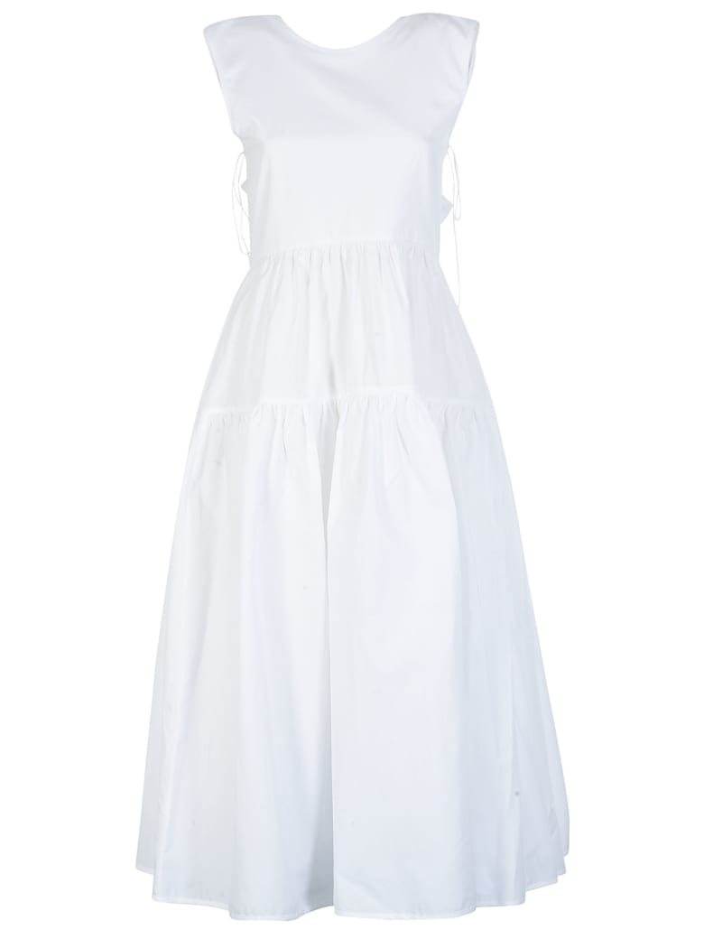 Cecilie Bahnsen Sleeveless High Waist Dress - White