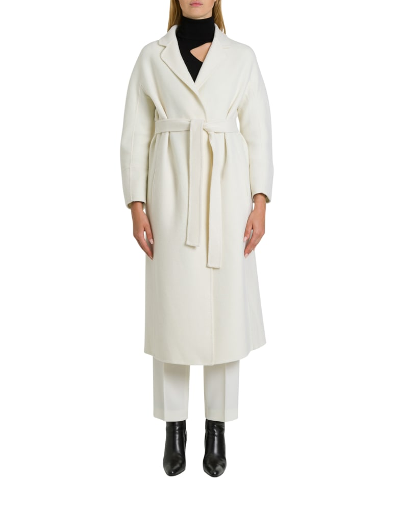 Parosh Lex Over Coat - Bianco