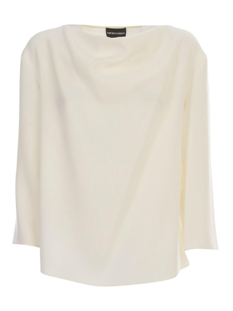 Emporio Armani Shirt 3/4s High Neck - Bianco Caldo