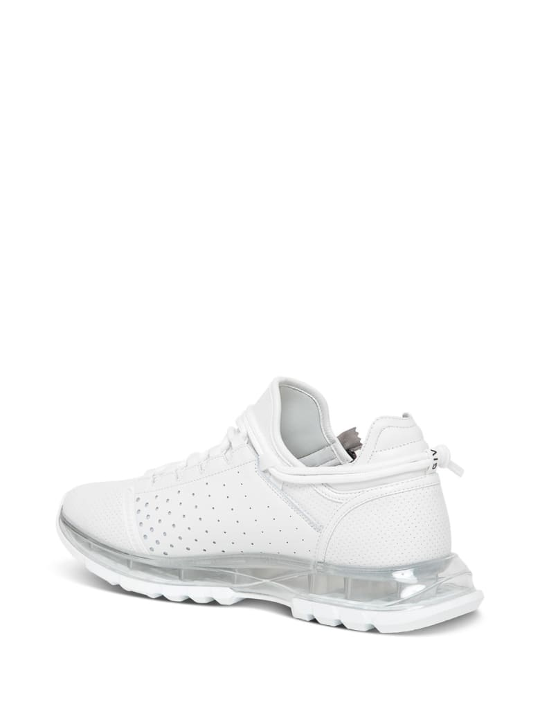 Givenchy Specter Running Low-top Sneakers In White Perforated Leather - White