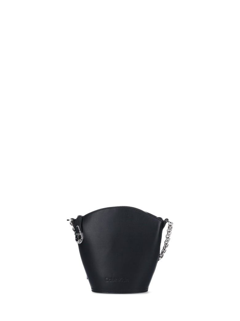 Calvin Klein Lock Bucket Bag - Black