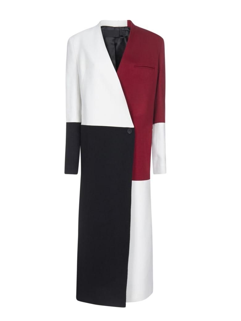 Haider Ackermann Coat - Black red white