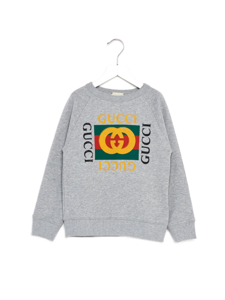Gucci 'gucci Fake' Sweatshirt - Grey