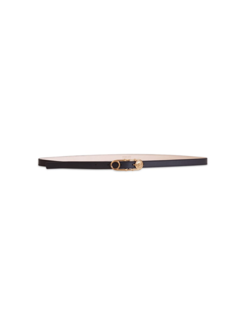 Versace Medusa Thin Belt - NERO