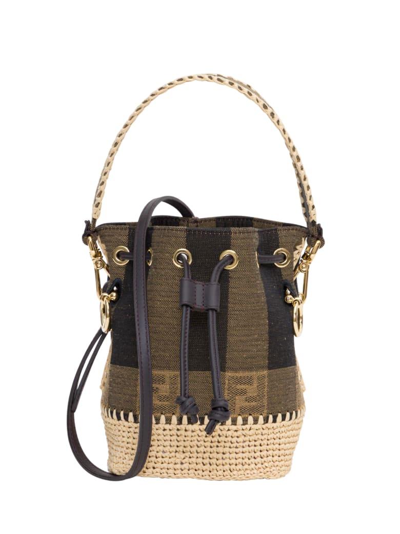 Fendi Mon Tresor Mini Bucket Bag - Beige