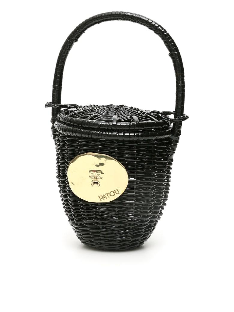 Patou Wicker Basket Bag - BLACK (Black)