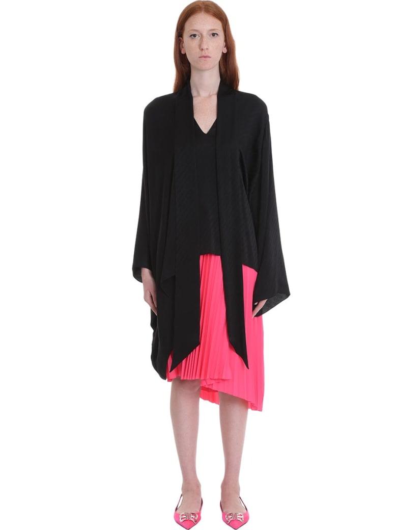 Balenciaga Blouse In Black Silk - black