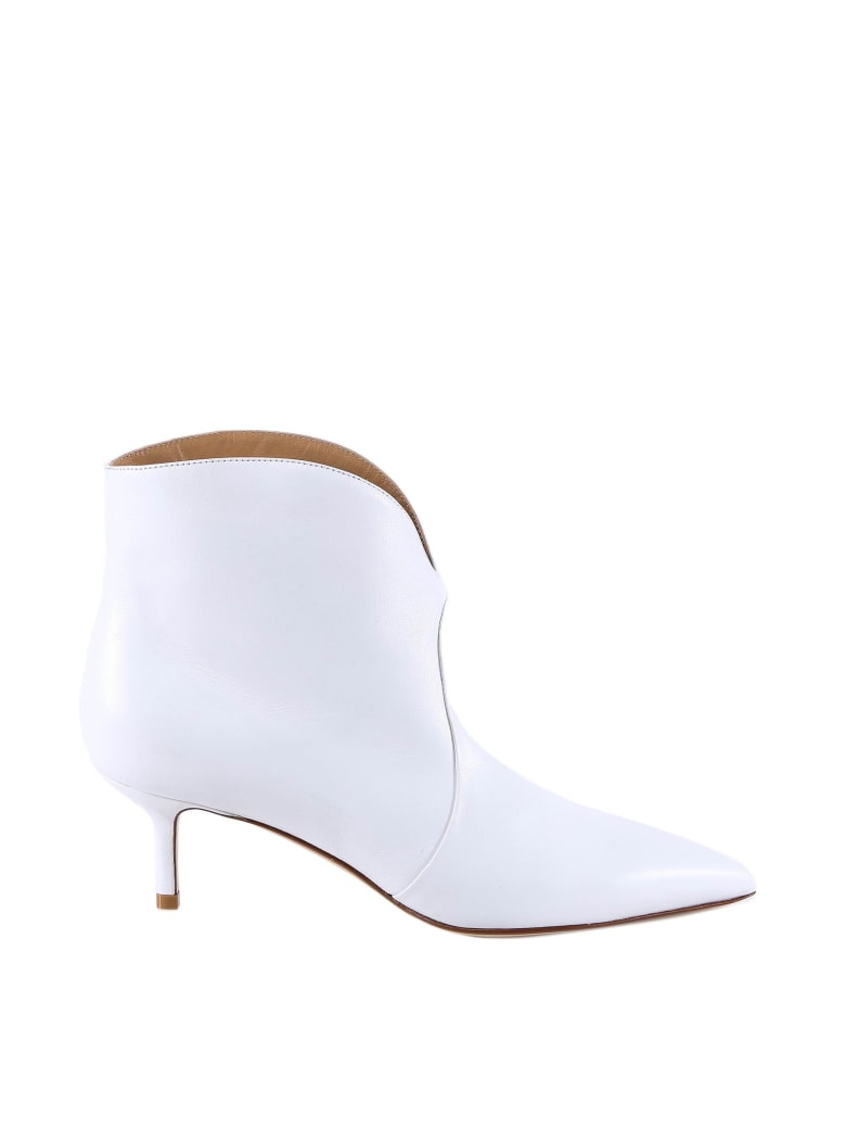 Francesco Russo Ankle Boots - White