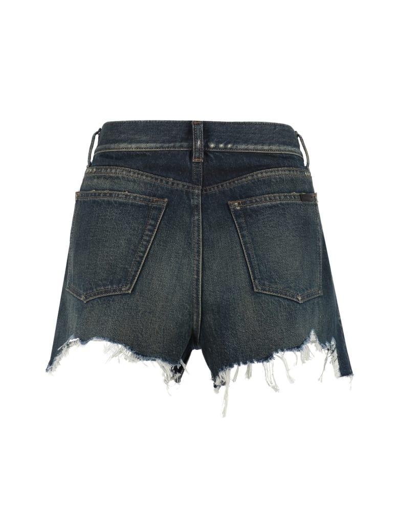 Saint Laurent Denim Shorts - Denim