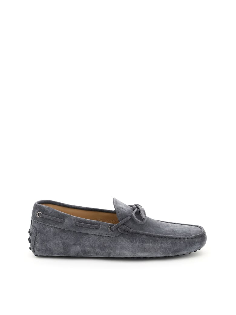 Tod's Gommino Loafers With Laces - OMBRA (Grey)