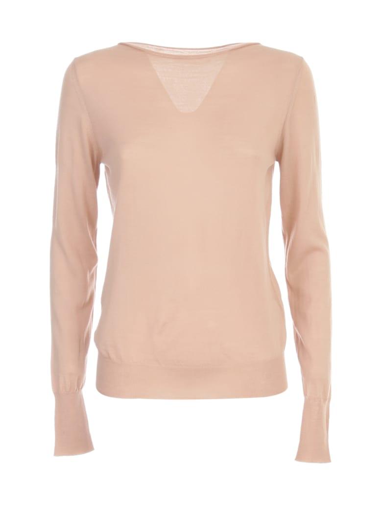 Nuur Boat Neck 100% Merino Wool Sweater - Rosa