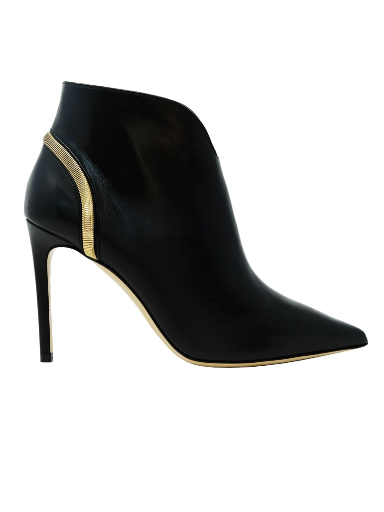 Ninalilou Leather Ankle Boots - BLACK
