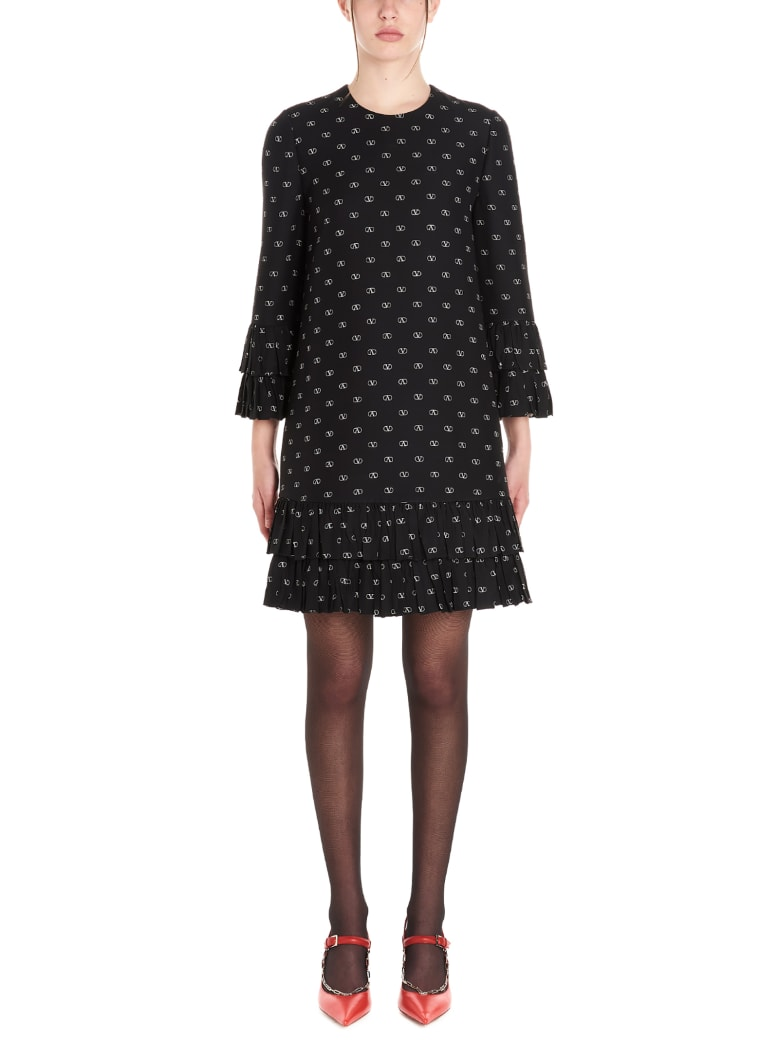 Valentino 'vlogo' Dress - Black&White