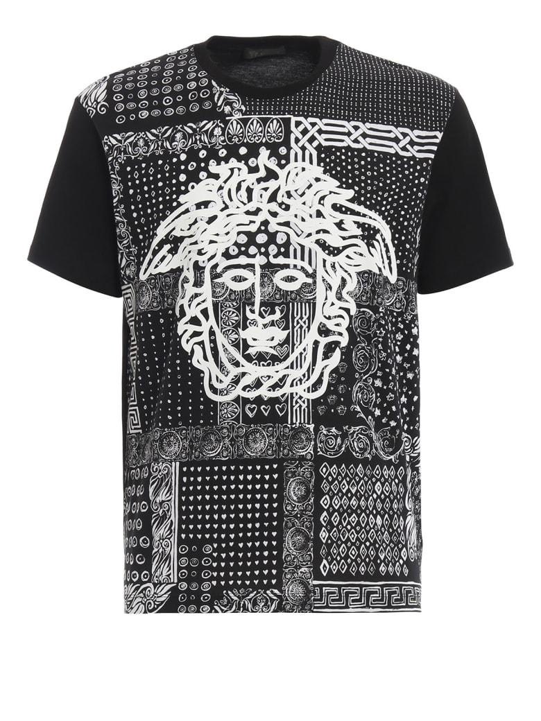 VERSACE Jeans Nero Stampa T-shirt