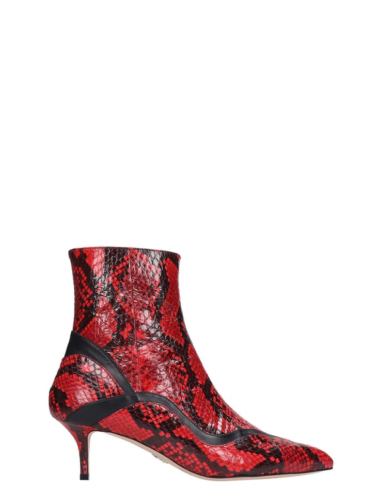 Paula Cademartori Ankle Boots In Red Leather - red