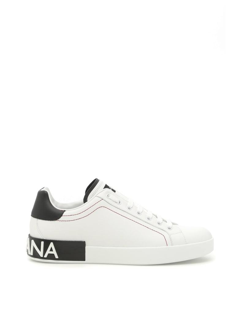 Dolce & Gabbana Portofino Sneakers - BIANCO NERO (White)