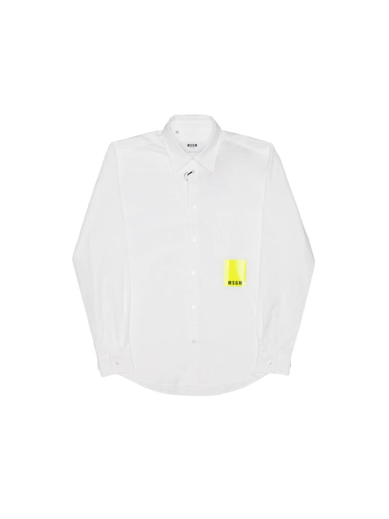 MSGM White Shirt Logo - White