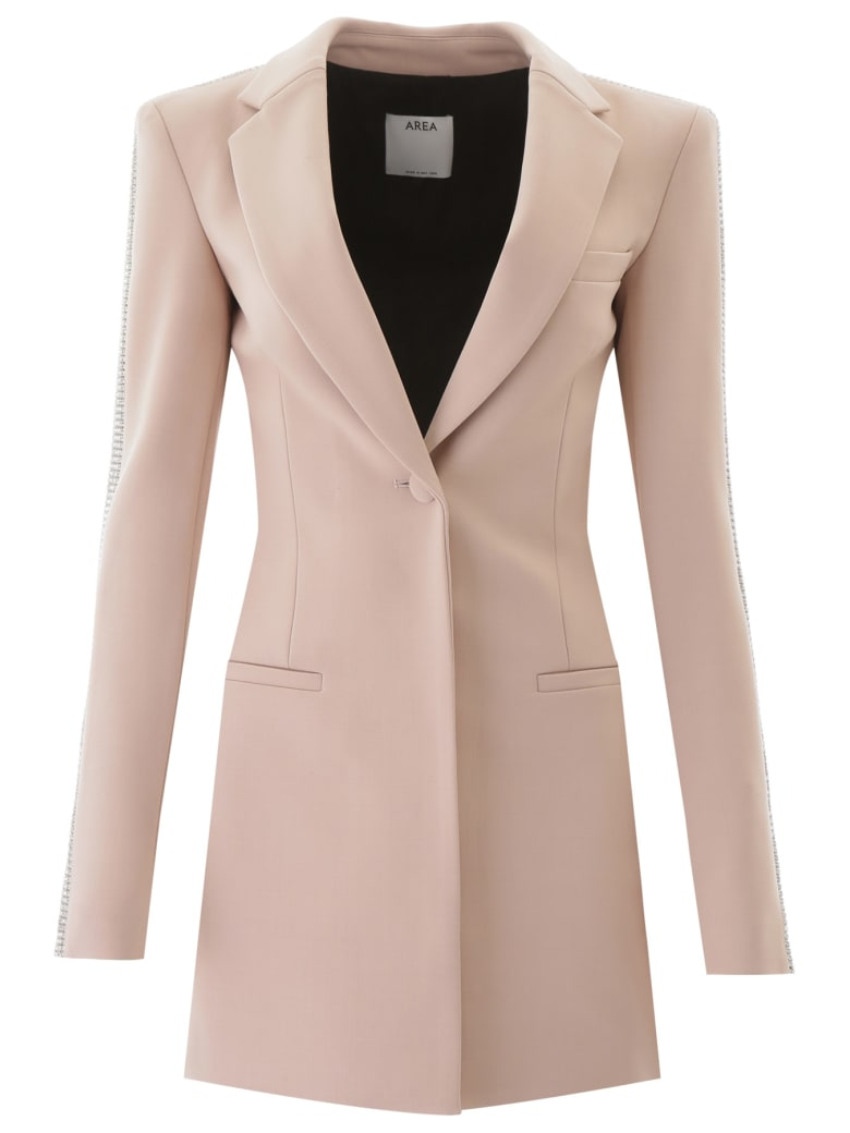 AREA Blazer With Crystals - NUDE (Pink)