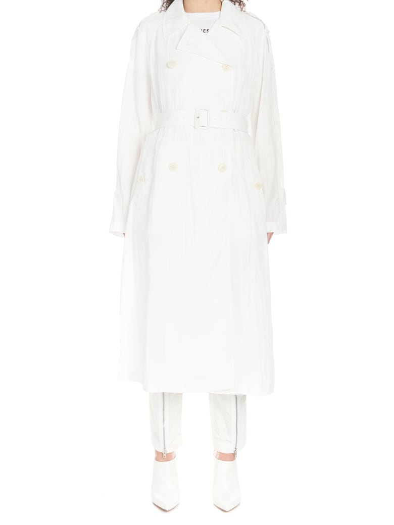 Helmut Lang 'parachute' Trench - White