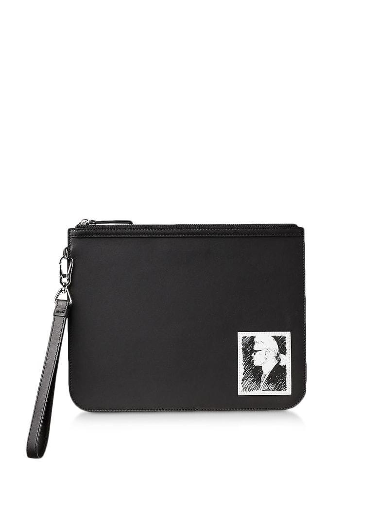 Karl Lagerfeld Karl Legend Luxury Clutch - Black