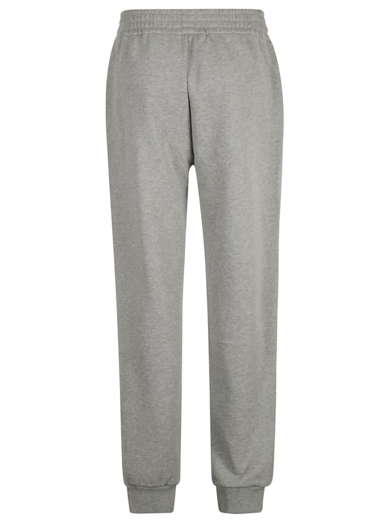 Moncler Logo Patch Ribbed Track Pants - Grey
