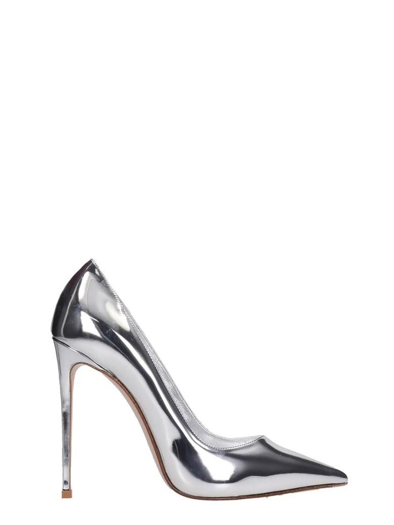 Le Silla Pumps In Silver Leather - silver