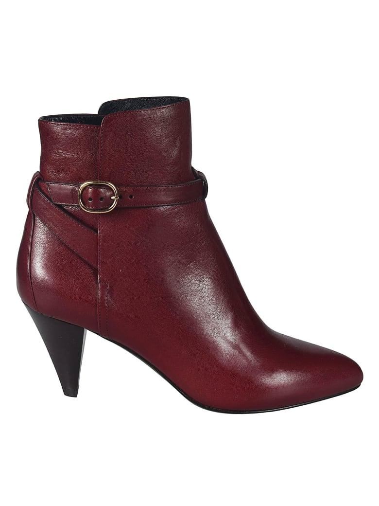Celine Jodphur Ankle Boots - Bordeaux