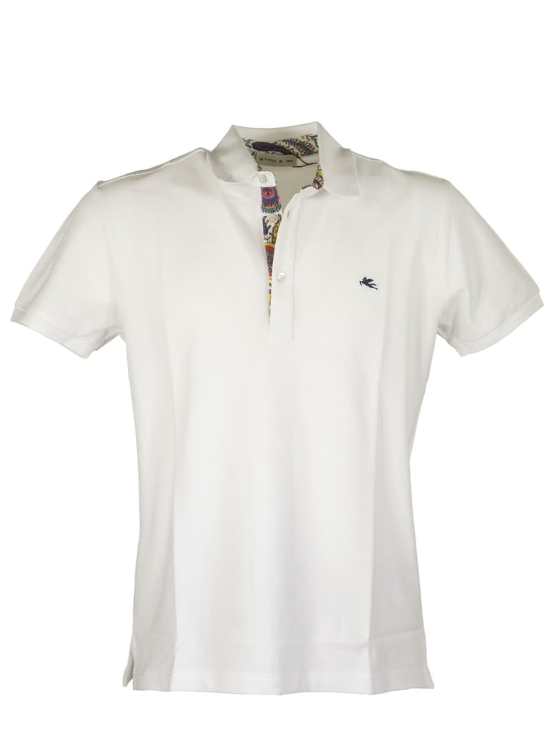 Etro Polo Shirt With Shirt Inserts - White