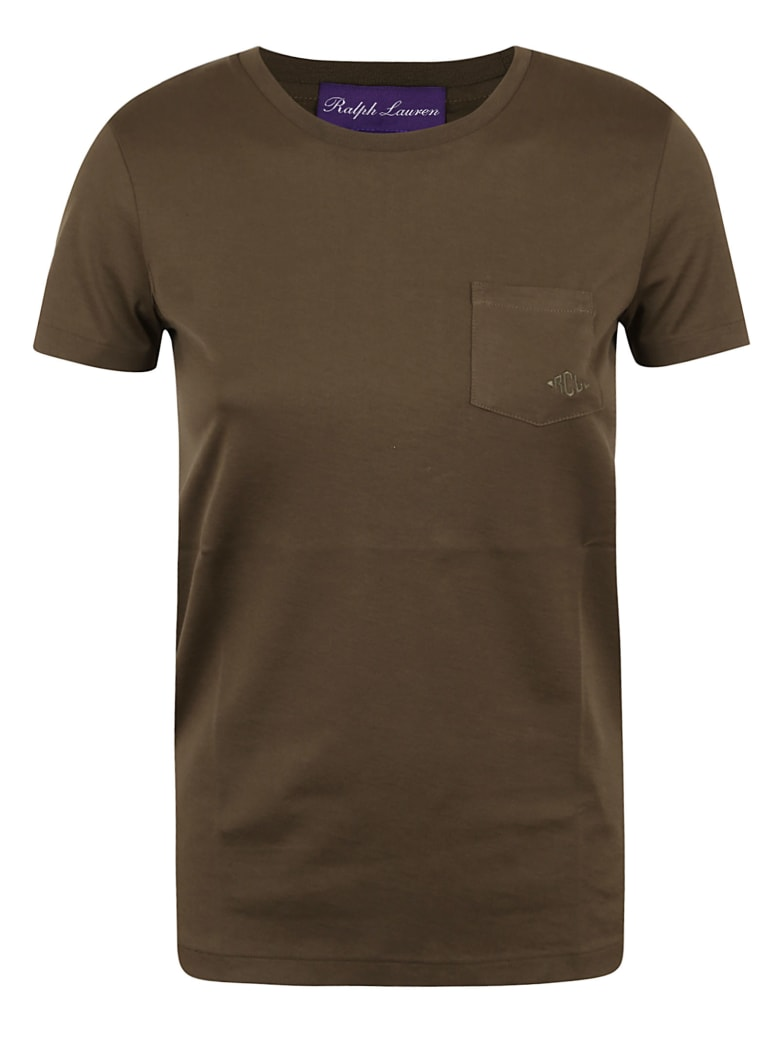 Ralph Lauren Black Label Pkt-short Sleeve-knit - Olive