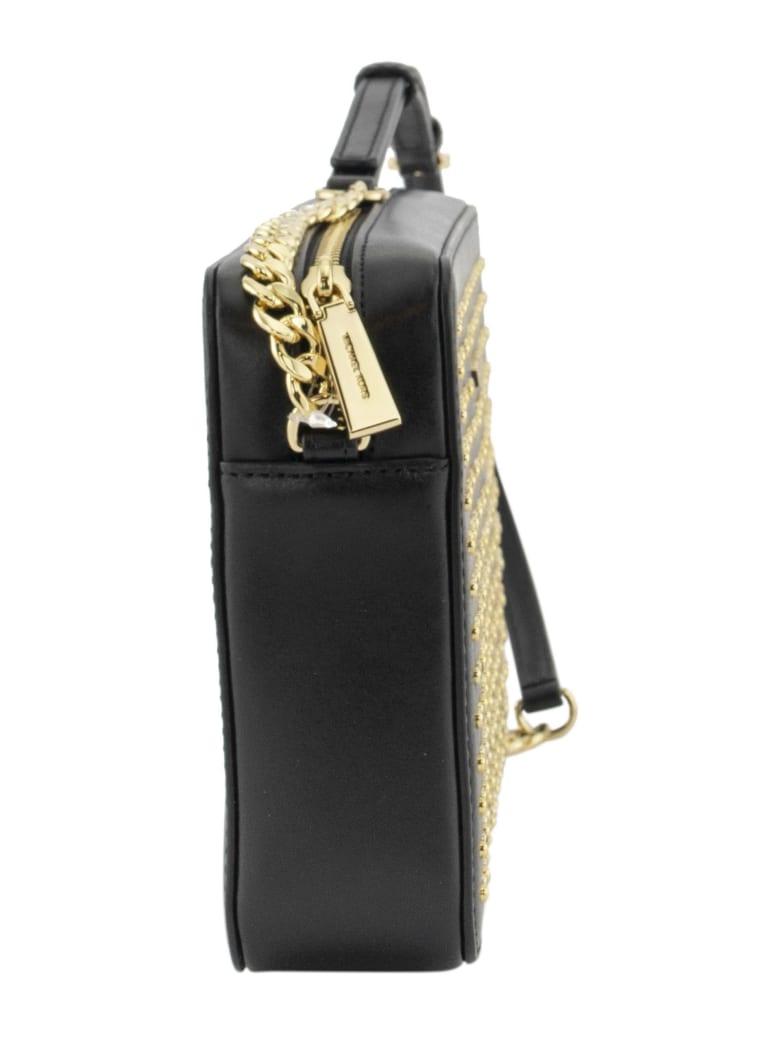 Best price on the market at italist   Michael Kors Michael Kors Jet Set Studded Crossbody Black