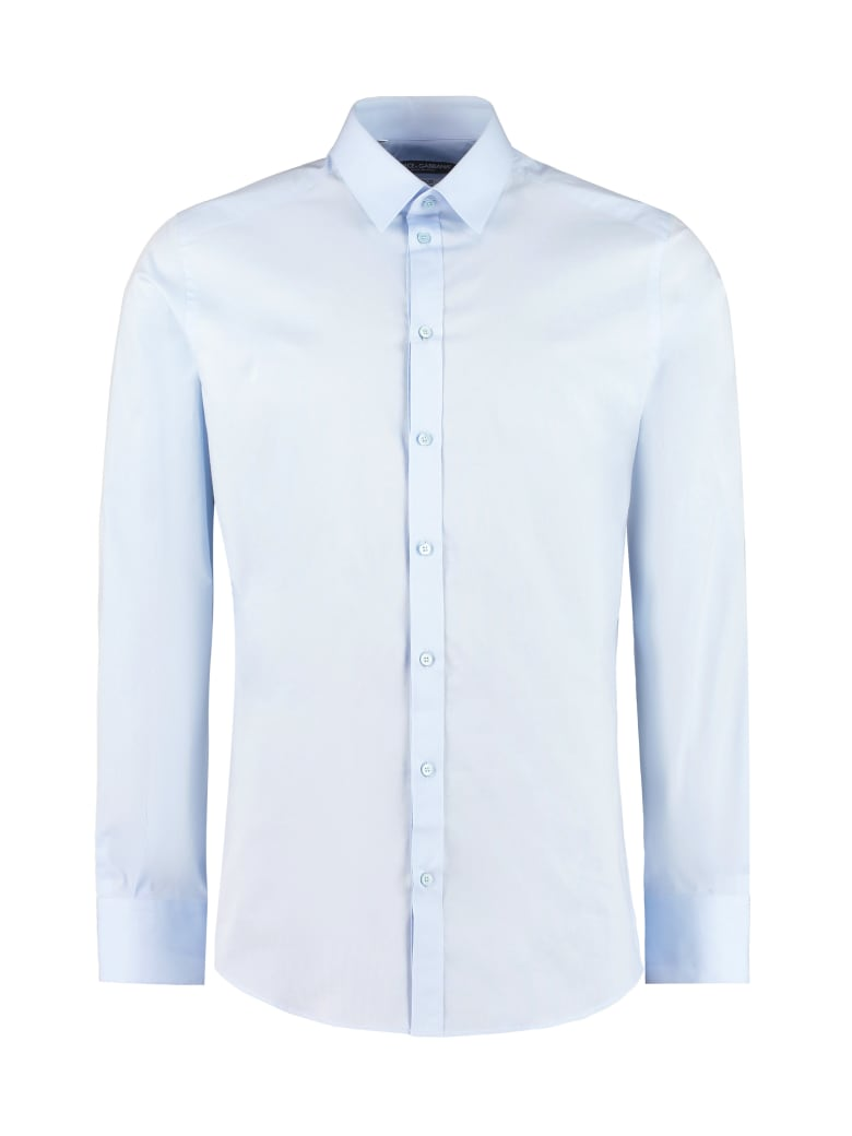 Dolce & Gabbana Stretch Poplin Shirt - Blue