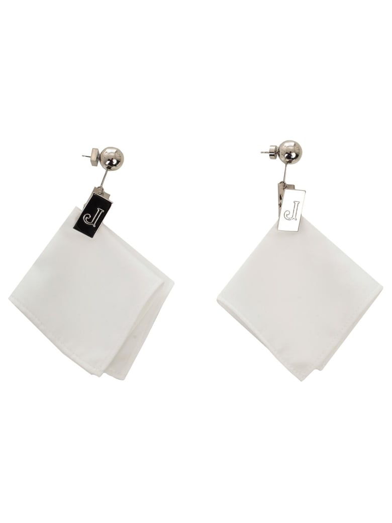 Jacquemus Les Mouchoirs Earrings - White